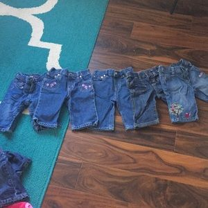 A lot of 3-6 months jeans total of 5 pairs